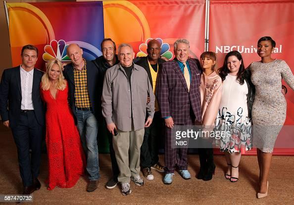EVENTS NBCUniversal Summer Press Tour August 2 2016 NBC's 'Hairspray Live' cast Pictured Derek Hough Kristin Chenoweth Neil Meron Executive Producer...