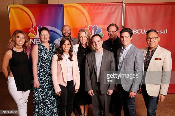 EVENTS NBCUniversal Summer Press Tour August 2 2016 NBC's 'Superstore' cast Pictured Nichole Bloom Lauren Ash Colton Dunn America Ferrera Jennifer...