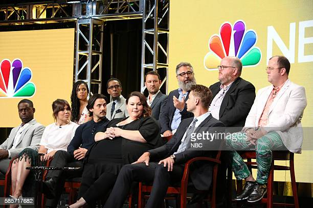 EVENTS NBCUniversal Summer Press Tour August 2 2016 NBC's 'This Is Us' Panel Pictured Sterling K Brown Mandy Moore Susan Kelechi Watson Milo...