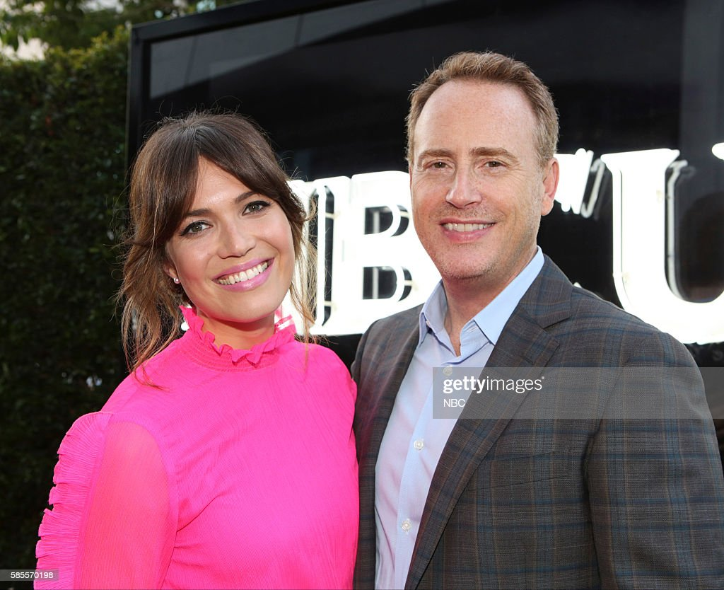 EVENTS NBCUniversal Summer Press Tour August 2 2016 Party at BOA Steakhouse Pictured Mandy Moore 'The Is Us' Robert Greenblatt Chairman NBC...