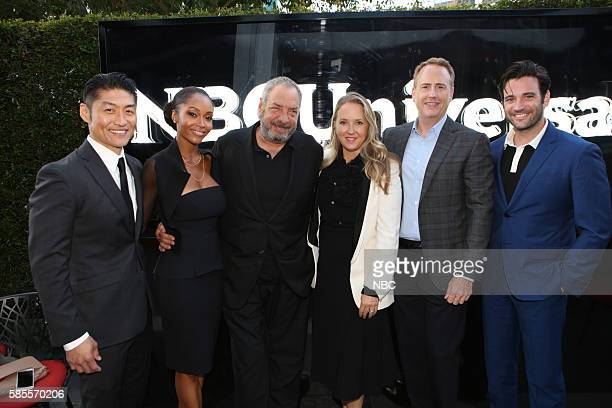 EVENTS NBCUniversal Summer Press Tour August 2 2016 Party at BOA Steakhouse Pictured Chicago Med Brian Tee Yaya DeCosta Dick Wolf Executive Producer...