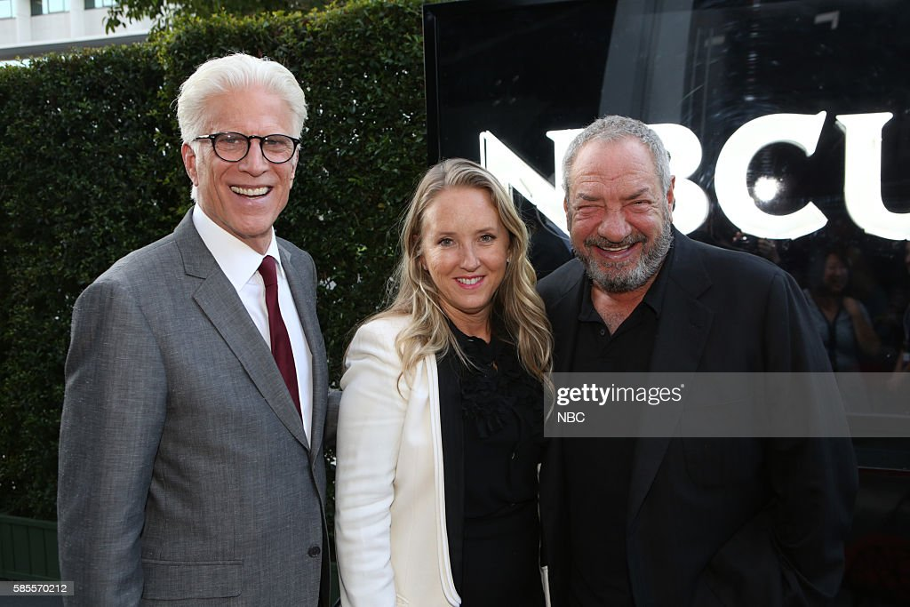 EVENTS NBCUniversal Summer Press Tour August 2 2016 Party at BOA Steakhouse Pictured Ted Danson 'The Good Place' Jennifer Salke President NBC...