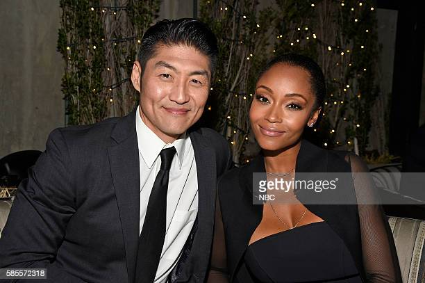 EVENTS NBCUniversal Summer Press Tour August 2 2016 Party at BOA Steakhouse Pictured Brian Tee Yaya DeCosta 'Chicago Med'