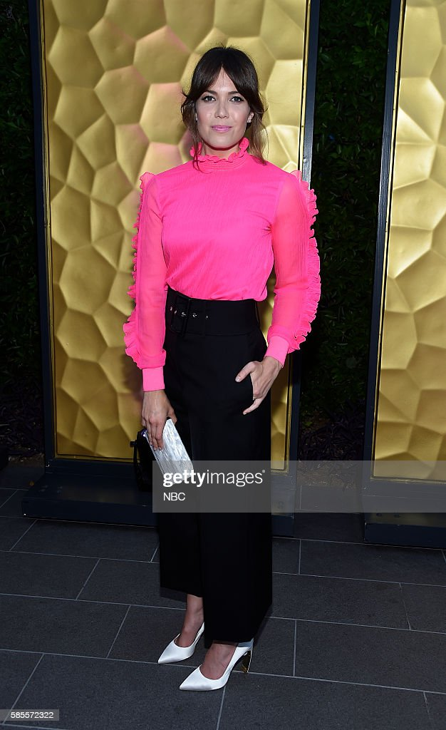 EVENTS NBCUniversal Summer Press Tour August 2 2016 Party at BOA Steakhouse Pictured Mandy Moore 'This is Us'
