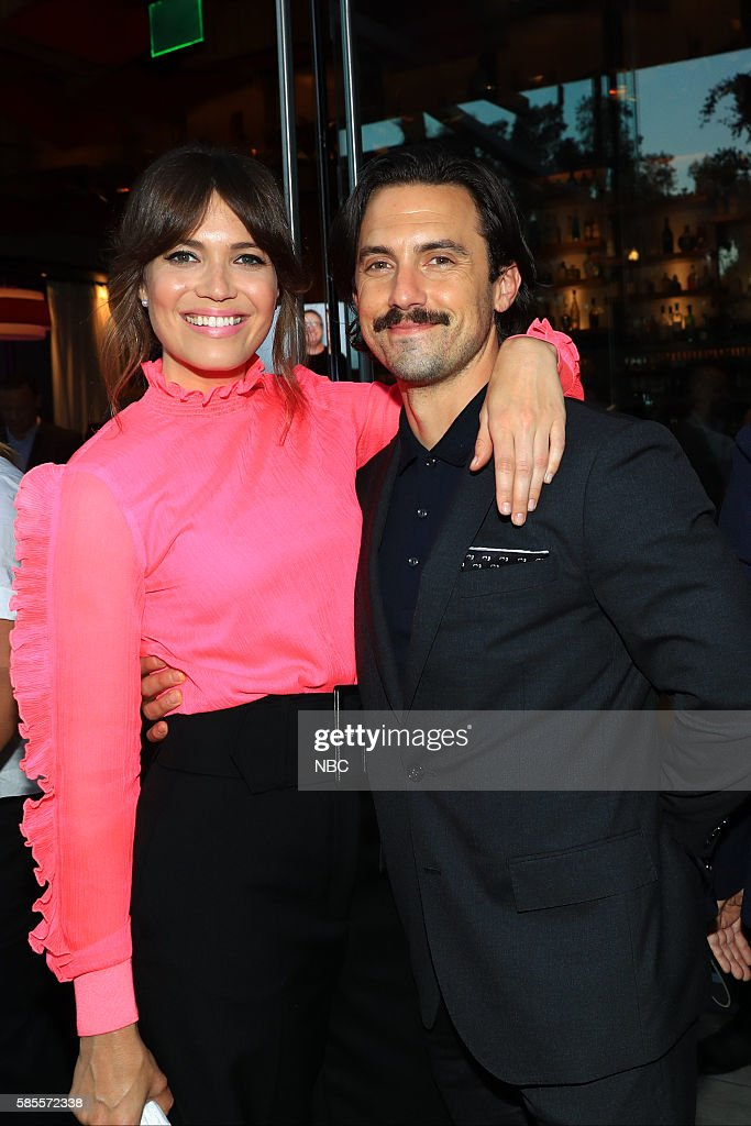 EVENTS NBCUniversal Summer Press Tour August 2 2016 Party at BOA Steakhouse Pictured Mandy Moore Milo Ventimiglia 'This is Us'