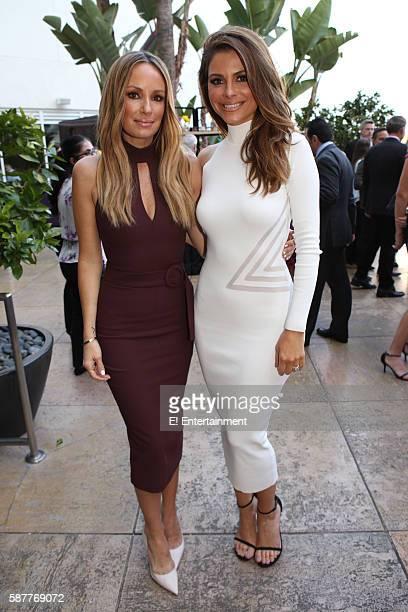 EVENTS NBCUniversal Summer Press Tour August 3 2016 E Cocktail Reception Pictured Catt Sadler 'E News' Maria Menounos 'E News'