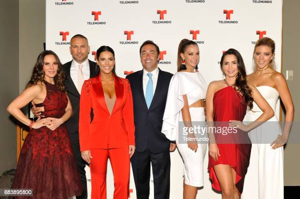 NBCUniversal Upfront in New York City on Monday May 15 2017 Executive Portraits Pictured Kate Del Castillo 'La Reina Del Sur' Rafael Amaya 'El Senor...