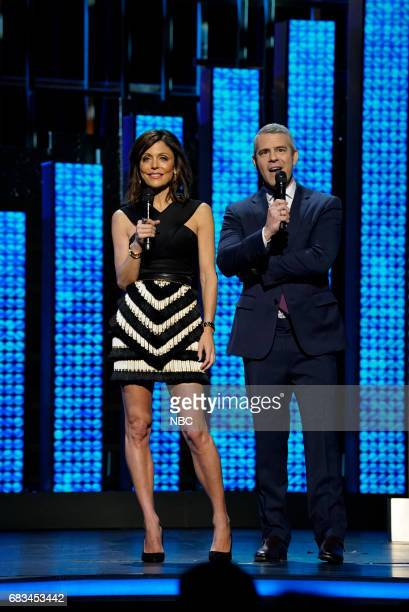 NBCUniversal Upfront in New York City on Monday May 15 2017 Pictured Bethenny Frankel 'The Real Housewives of New York' on Bravo Andy Cohen 'Watch...
