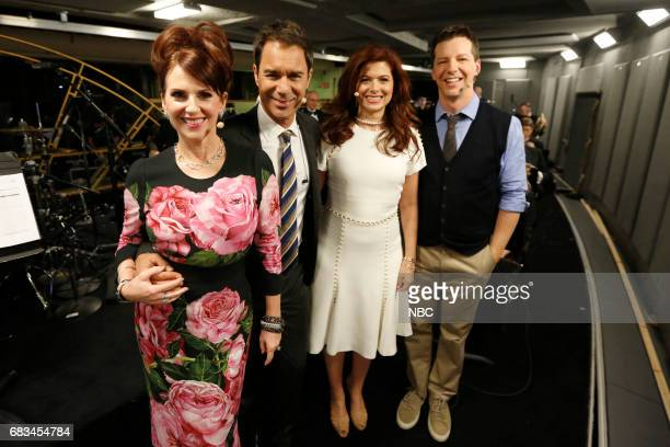 NBCUniversal Upfront in New York City on Monday May 15 2017 Pictured Megan Mullally Eric McCormack Debra Messing Sean Hayes 'Will Grace' on NBC