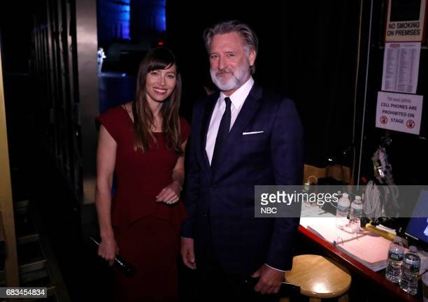 NBCUniversal Upfront in New York City on Monday May 15 2017 Pictured Jessica Biel Bill Pullman 'The Sinner' on USA Network