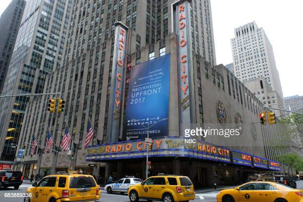 NBCUniversal Upfront in New York City on Monday May 15 2017 Pictured Radio City Music Hall exterior