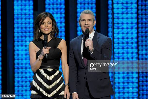 NBCUniversal Upfront in New York City on Monday May 15 2017 Pictured Bethenny Frankel 'The Real Housewives of New York' and Andy Cohen 'Watch What...