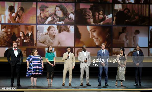 NBCUniversal Upfront in New York City on Monday May 15 2017 Pictured Chris Sullivan Chrissy Metz Mandy Moore Milo Ventimiglia Sterling K Brown Justin...