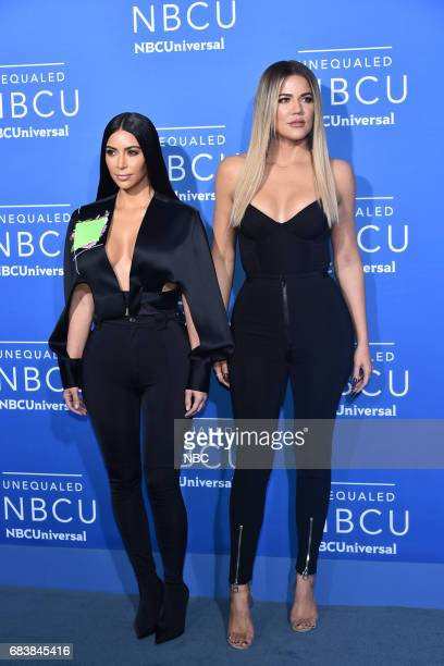 NBCUniversal Upfront in New York City on Monday May 15 2017 Red Carpet Pictured Kim Kardashian West Khloe Kardashian 'Keeping Up with the...