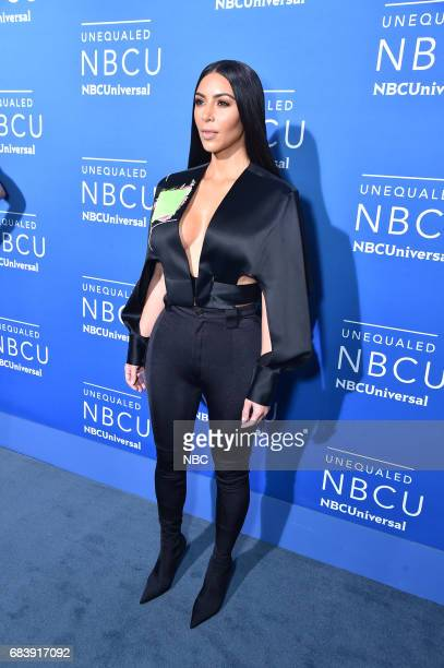 NBCUniversal Upfront in New York City on Monday May 15 2017 Red Carpet Pictured Kim Kardashian 'Keeping Up with the Kardashians' on E Entertainment
