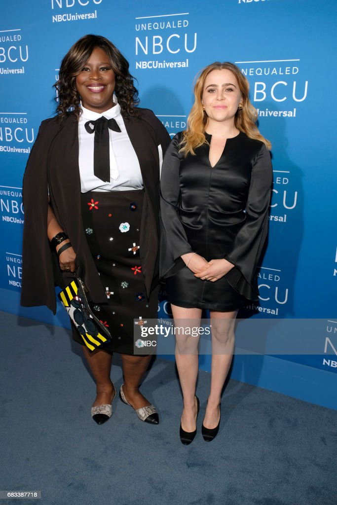 NBCUniversal Upfront in New York City on Monday, May 15, 2017 -- Red Carpet -- Pictured: (l-r) Retta, Mae Whitman, 'Good Girls' on NBC --