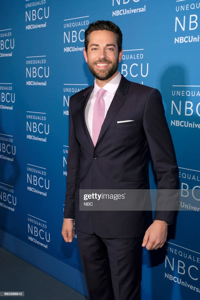 NBCUniversal Upfront in New York City on Monday, May 15, 2017 -- Red Carpet -- Pictured: Zachary Levi, 'Syfy Presents Live from Comic-Con' on Syfy --