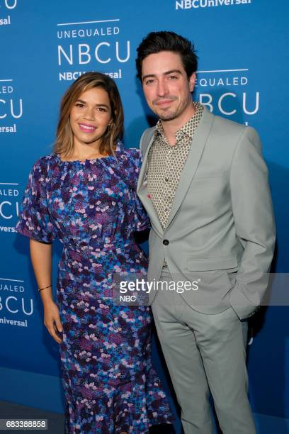 NBCUniversal Upfront in New York City on Monday May 15 2017 Red Carpet Pictured America Ferrera Ben Feldman 'Superstore' on NBC