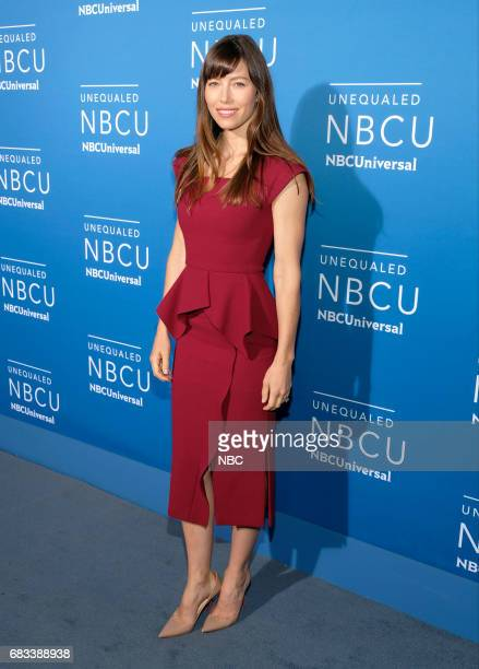 NBCUniversal Upfront in New York City on Monday May 15 2017 Red Carpet Pictured Jessica Biel 'The Sinner' on USA Network