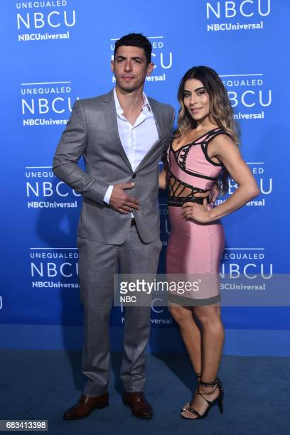 NBCUniversal Upfront in New York City on Monday May 15 2017 Red Carpet Pictured Alberto Guerra Maria Leon 'Guerra de Idolos' on Telemundo