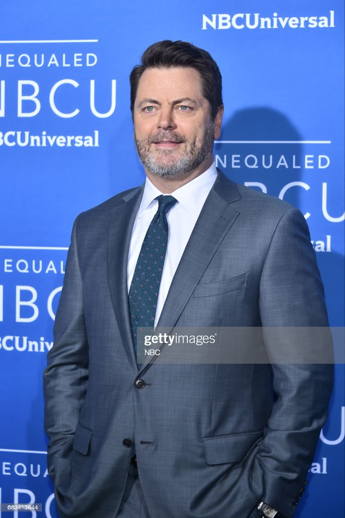 NBCUniversal Upfront in New York City on Monday, May 15, 2017 -- Red Carpet -- Pictured: Nick Offerman, 'The Handmade Project' on NBC --