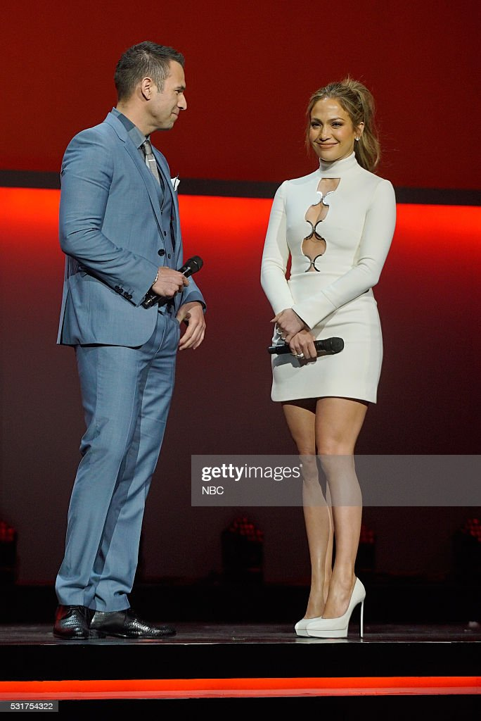 UPFRONT -- '2016 NBCUniversal Upfront in New York City on Monday, May 16, 2016' -- Pictured: (l-r) Rafael Amaya, 'El Senor de los Cielos' on Telemundo; Jennifer Lopez, 'Shades of Blue' on NBC--