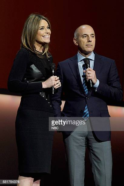 UPFRONT '2016 NBCUniversal Upfront in New York City on Monday May 16 2016' Pictured Savannah Guthrie Matt Lauer 'Today' on NBC