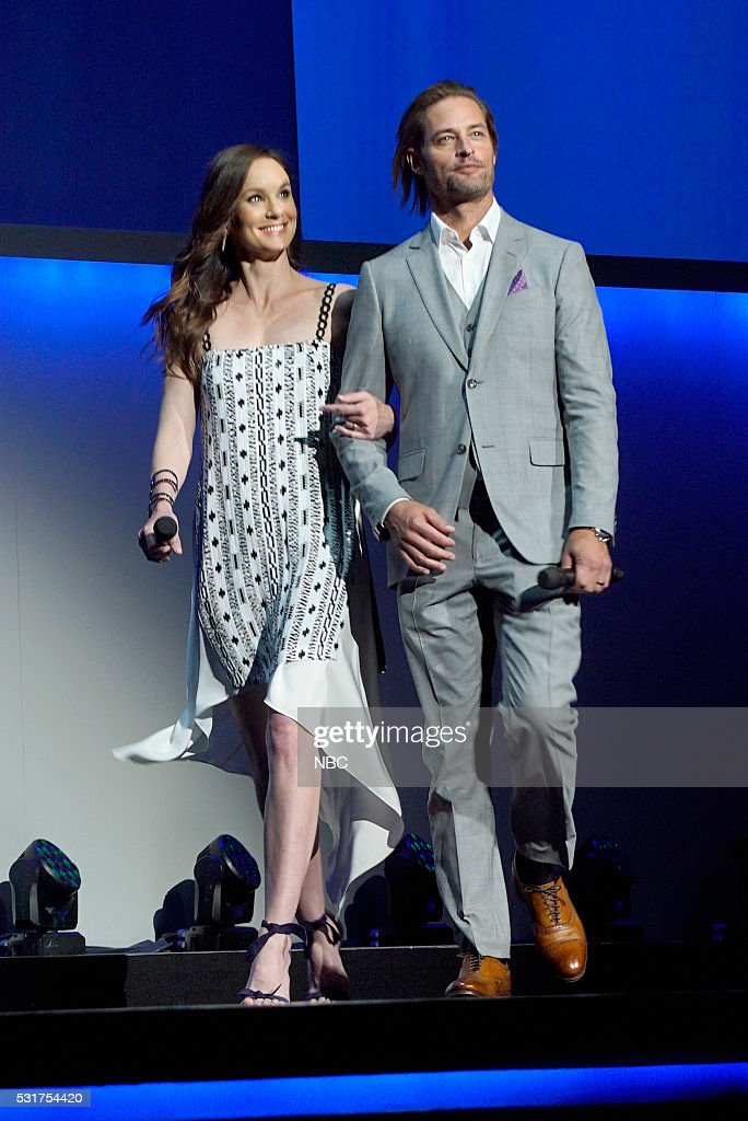 UPFRONT -- '2016 NBCUniversal Upfront in New York City on Monday, May 16, 2016' -- Pictured: (l-r) <a gi-track='captionPersonalityLinkClicked' href=/galleries/search?phrase=Sarah+Wayne+Callies&family=editorial&specificpeople=607272 ng-click='$event.stopPropagation()'>Sarah Wayne Callies</a>, <a gi-track='captionPersonalityLinkClicked' href=/galleries/search?phrase=Josh+Holloway&family=editorial&specificpeople=458791 ng-click='$event.stopPropagation()'>Josh Holloway</a>, 'Colony' on USA Network --