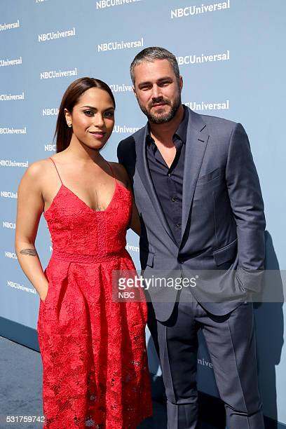 UPFRONT '2016 NBCUniversal Upfront in New York City on Monday May 16 2016' Pictured Monica Raymund and Taylor Kinney 'Chicago Fire' on NBC