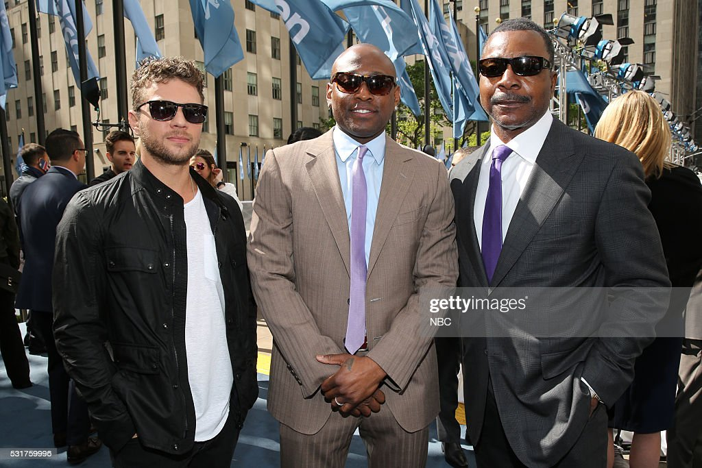 UPFRONT -- '2016 NBCUniversal Upfront in New York City on Monday, May 16, 2016' -- Pictured: (l-r) <a gi-track='captionPersonalityLinkClicked' href=/galleries/search?phrase=Ryan+Phillippe&family=editorial&specificpeople=210855 ng-click='$event.stopPropagation()'>Ryan Phillippe</a>, <a gi-track='captionPersonalityLinkClicked' href=/galleries/search?phrase=Omar+Epps&family=editorial&specificpeople=215460 ng-click='$event.stopPropagation()'>Omar Epps</a>, 'Shooter' on USA Network; <a gi-track='captionPersonalityLinkClicked' href=/galleries/search?phrase=Carl+Weathers&family=editorial&specificpeople=791982 ng-click='$event.stopPropagation()'>Carl Weathers</a>, 'Chicago Justice' on NBC --