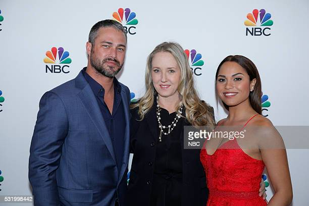 UPFRONT '2016 NBCUniversal Upfront in New York City on Monday May 16 2016' Pictured Taylor Kinney Chicago Fire on NBC Jennifer Salke President NBC...