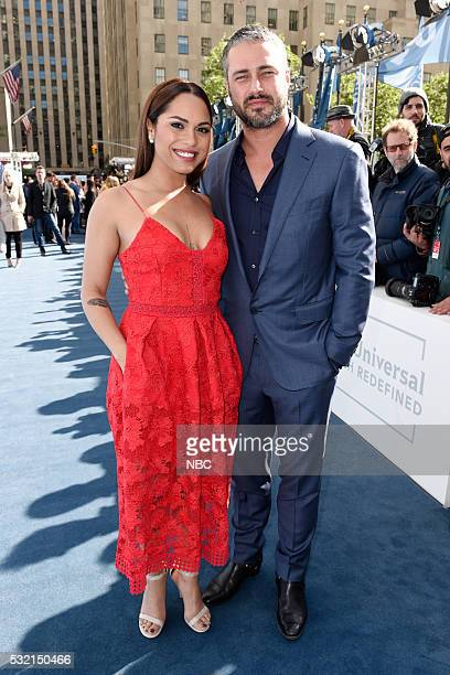 UPFRONT '2016 NBCUniversal Upfront in New York City on Monday May 16 2016' Pictured Monica Raymund Taylor Kinney 'Chicago Fire' on NBC