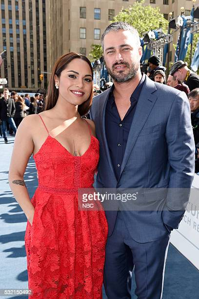UPFRONT '2016 NBCUniversal Upfront in New York City on Monday May 16 2016' Pictured Monica Raymund Taylor Kinney Chicago Fire on NBC