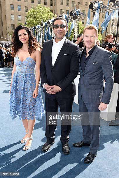 UPFRONT '2016 NBCUniversal Upfront in New York City on Monday May 16 2016' Pictured Mozhan Marnò Harry Lennix Diego Klattenhoff The Blacklist on NBC