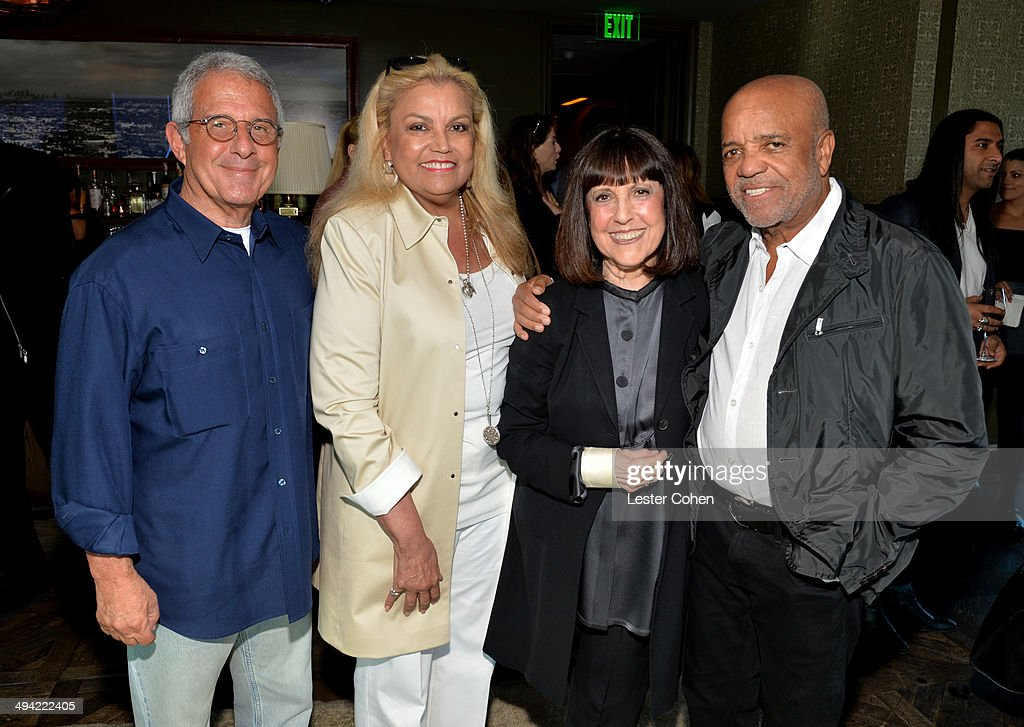 NBCUniversal Vice Chairman Ron Meyer, TV producer Suzanne de Passe, Lisa Robinson, and founder of Motown Records Berry Gordy attend the Shelli And Irving Azoff & Ronald Perelman Party to celebrate the publication of Lisa Robinson's book 'There Goes Gravity: A Life in Rock And Roll' on May 28, 2014 in Los Angeles, California.