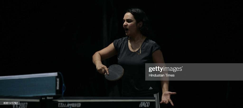 N.C.Ferriera plays inner club & inner office Table Tennis competition at Santacurz Gymkhana on Friday.
