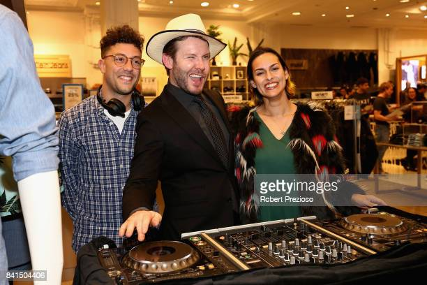 Ncik Smith poses for photos during Vogue American Express Fashion's Night Out 2017 on September 1 2017 in Melbourne Australia