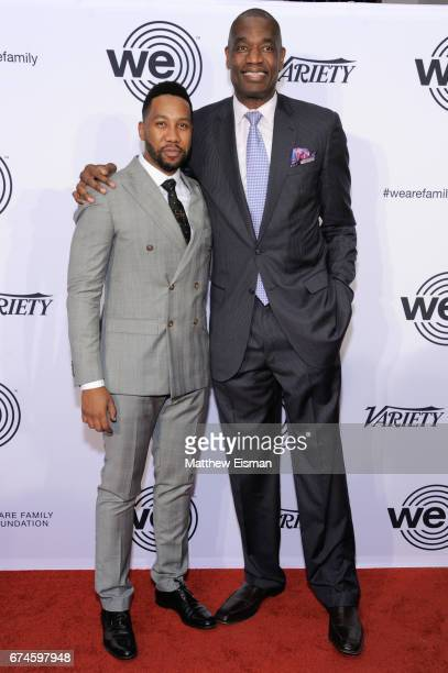 Ndaba Mandela and and former professional basketball player Dikembe Mutombo attend the We Are Family Foundation 2017 Celebration Gala at Hammerstein...