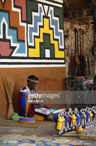 Ndebele bead worker