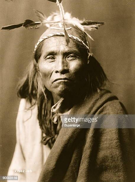 Ndee Sangochonh Apache Indian halflength portrait facing front