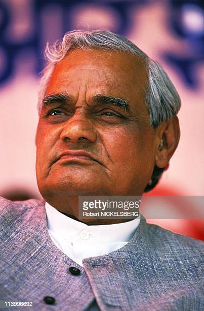 ndian campaign of Bhartiya Janta Party In India In April 1996Atal Bihari Vajpayee