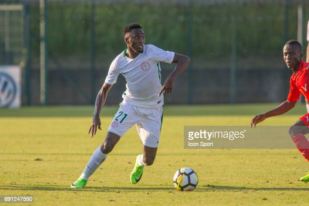 Ndidi Wilfred of Nigeria during the soccer friendly match between Nigeria and Togo on June 1 2017 in St LeulaForet France