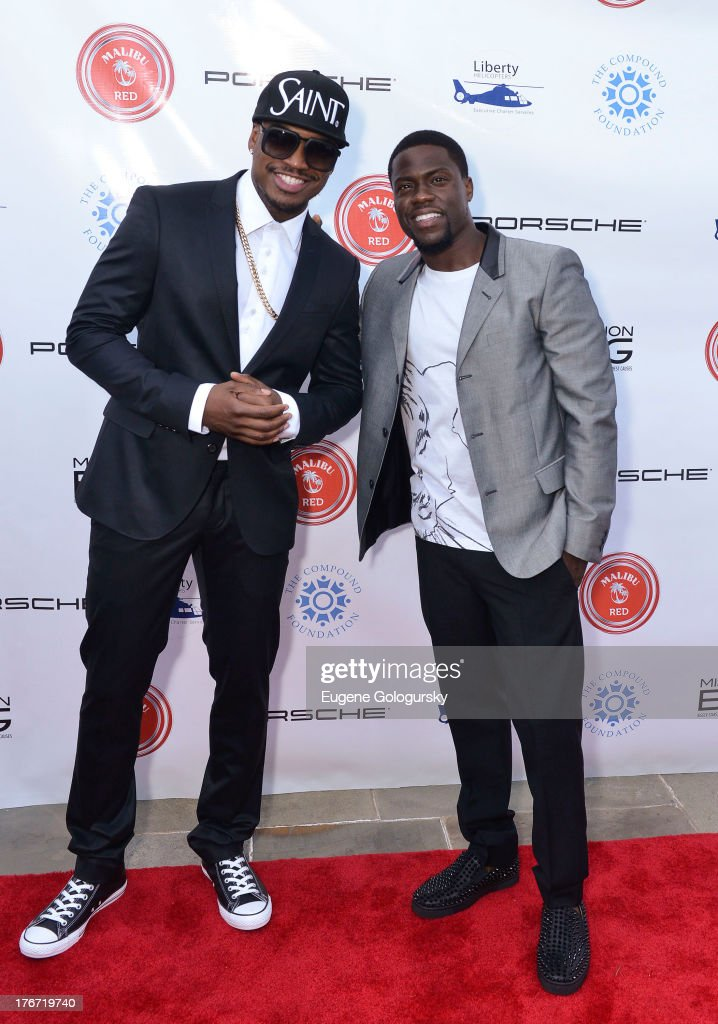 Ne Yo and Kevin Hart attend the The Compound Foundation 2nd Annual 'Fostering A Legacy' Benefit Hosted By Ne-YO & Mission BIG on August 17, 2013 in East Hampton, New York.