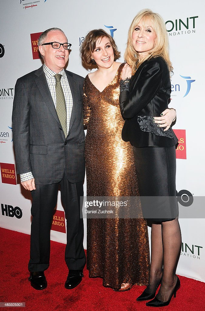 Neal Baer, <a gi-track='captionPersonalityLinkClicked' href=/galleries/search?phrase=Lena+Dunham&family=editorial&specificpeople=5836535 ng-click='$event.stopPropagation()'>Lena Dunham</a> and <a gi-track='captionPersonalityLinkClicked' href=/galleries/search?phrase=Judith+Light&family=editorial&specificpeople=214207 ng-click='$event.stopPropagation()'>Judith Light</a> attend the 2014 Point Honors New York gala at New York Public Library on April 7, 2014 in New York City.