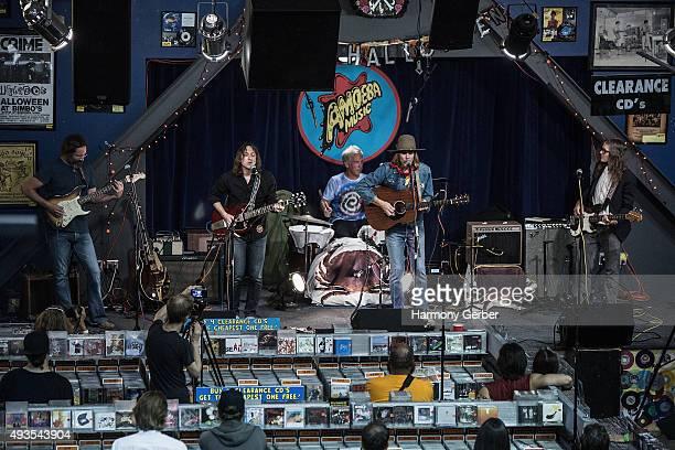 Neal Casal Tom Sanford Brent Rademaker Jason Soda and Kip Boardman performed at Amoeba Music on October 20 2015 in Hollywood California