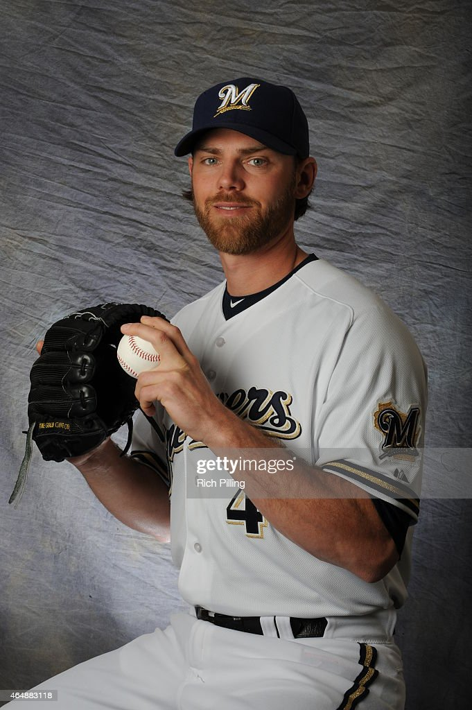 Neal Cotts #48 of the Milwaukee Brewers poses for a portrait during Photo Day on February 27, 2015 at Maryville Baseball Park in Maryvale, Arizona.