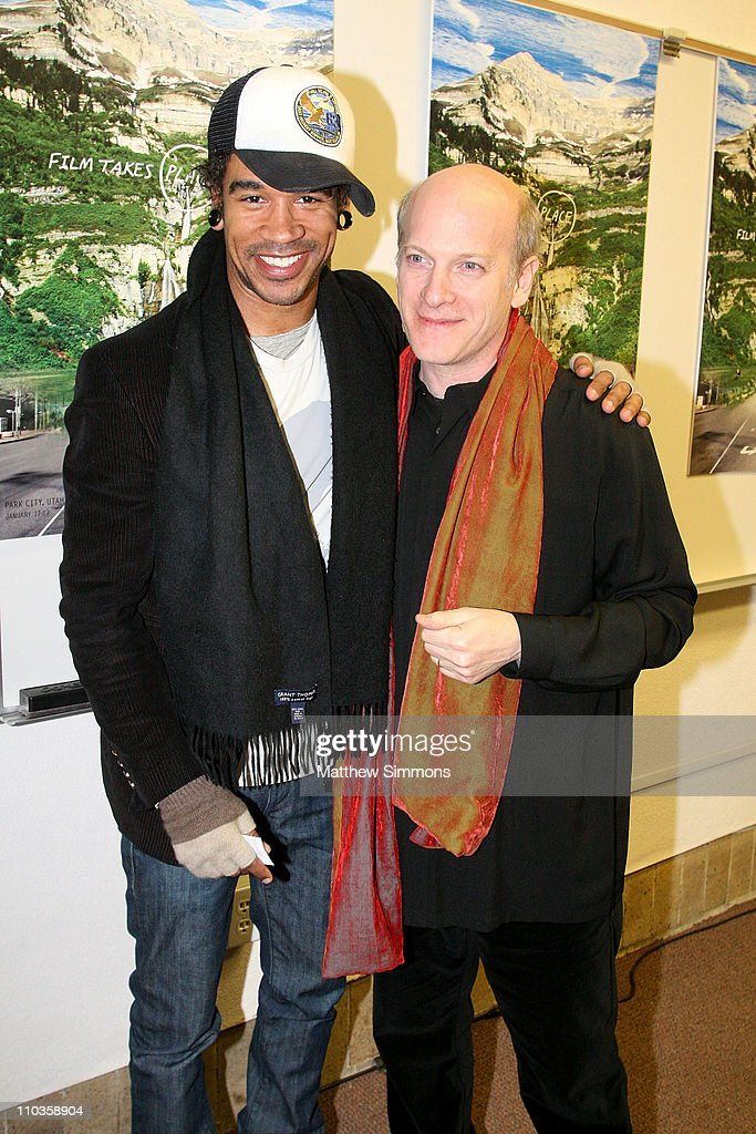 Neal Evans and director Timothy Greenfield Sanders attend a screening of 'The Black List' at the Library Theatre during the 2008 Sundance Film...