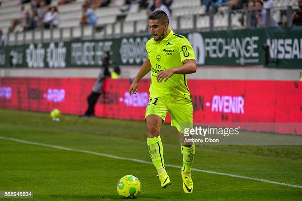 Neal Maupay of Brest during the football Ligue 2 match between Red Star fc and Stade Brestois 29 Brest at Stade Jean Bouin on August 12 2016 in Paris...