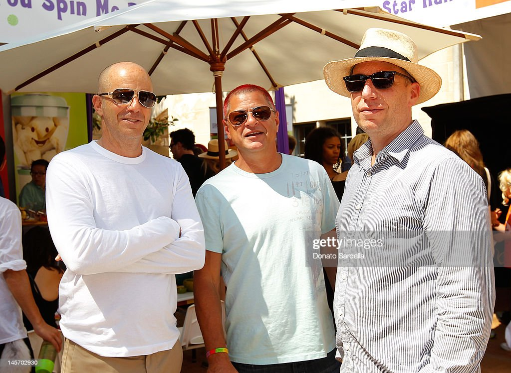 Neal Moritz, Michael Rotenberg and Daniel Rappaport attend 6th Annual Kidstock Music And Arts Festival Sponsored By Hudson Jeans at Greystone Mansion on June 3, 2012 in Beverly Hills, California.