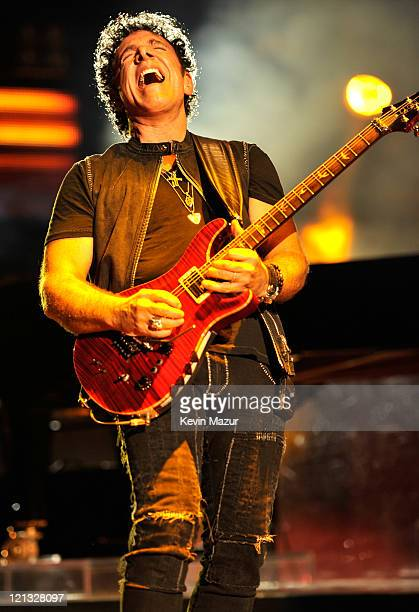 Neal Schon of Journey performs at Nikon at Jones Beach Theater on August 17 2011 in Wantagh New York
